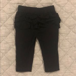 0-3Month Black ruffle leggings